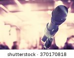 microphone for sound  music ... | Shutterstock . vector #370170818