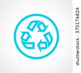 recycle icon isolated on white...