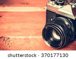 old retro vintage camera... | Shutterstock . vector #370177130
