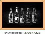 set of beer bottles on... | Shutterstock . vector #370177328