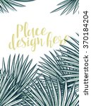 design background with leaves... | Shutterstock .eps vector #370184204
