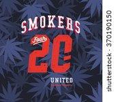 college varsity marijuana weed... | Shutterstock .eps vector #370190150