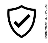 shield with checkmark symbol... | Shutterstock .eps vector #370192223
