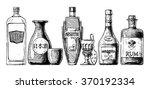 set of bottles of alcohol in... | Shutterstock . vector #370192334