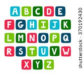 vector set of bright alphabet.... | Shutterstock .eps vector #370192430