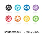 chakras flat vector set  ... | Shutterstock .eps vector #370192523