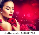 Beauty Woman With Red Rose....