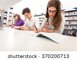 group of students at work | Shutterstock . vector #370200713