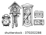 Hand Drawn Sketch Of Old Clock...