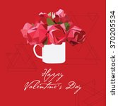 valentines day background with... | Shutterstock .eps vector #370205534