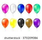 balloon set. vector... | Shutterstock .eps vector #370209086