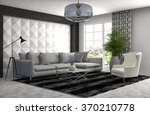 interior with sofa. 3d... | Shutterstock . vector #370210778
