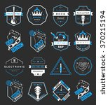set of vector badges and logos... | Shutterstock .eps vector #370215194