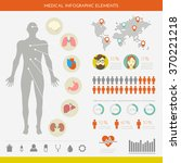 medical infographic set. vector ... | Shutterstock .eps vector #370221218