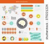 medical infographic set. vector ... | Shutterstock .eps vector #370221224