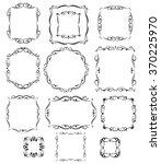 set calligraphic frames ... | Shutterstock .eps vector #370225970