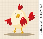 animal cock cartoon theme... | Shutterstock .eps vector #370228466