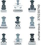 set of flat cooking emblem   Shutterstock .eps vector #370230740