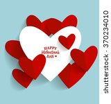 valentine's day card with heart ... | Shutterstock .eps vector #370234010