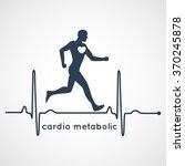 cardio metabolic logo vector | Shutterstock .eps vector #370245878