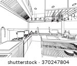 outline sketch drawing... | Shutterstock .eps vector #370247804
