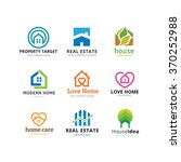home and real estate logo... | Shutterstock .eps vector #370252988