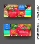 discount voucher template with... | Shutterstock .eps vector #370253864