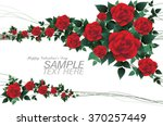 Stock vector romantic red rose for valentine day low poly style 370257449