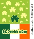 st. patrick's day greeting card ... | Shutterstock .eps vector #370257524