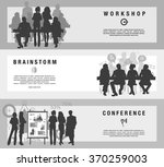 horizontal flat banners set of... | Shutterstock .eps vector #370259003