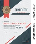 certificate template with clean ... | Shutterstock .eps vector #370259510