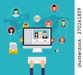 social network and teamwork... | Shutterstock .eps vector #370261859