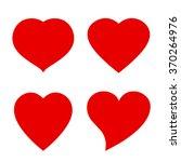 vector heart shape icon | Shutterstock .eps vector #370264976