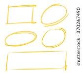 blank hand drawn sketch circle...   Shutterstock .eps vector #370267490