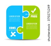 pros and cons puzzle diagram... | Shutterstock .eps vector #370271249