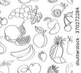 doodle pattern fruit | Shutterstock .eps vector #370272284