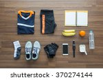 sport clothes and accessories... | Shutterstock . vector #370274144