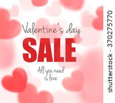 valentine's day sale card with... | Shutterstock .eps vector #370275770