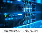 an network servers in data room ...   Shutterstock . vector #370276034