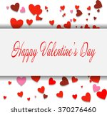 happy valentine's day lettering ... | Shutterstock .eps vector #370276460