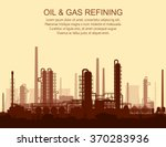 oil and gas refinery or... | Shutterstock .eps vector #370283936