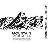 mountain range isolated on... | Shutterstock .eps vector #370283984
