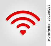 heart wifi. vector heart... | Shutterstock .eps vector #370285298