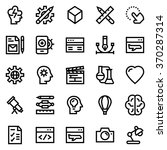 creative package line icon set... | Shutterstock .eps vector #370287314