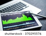 stock market data analyzing on... | Shutterstock . vector #370295576
