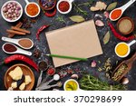 notepad for your recipe with... | Shutterstock . vector #370298699