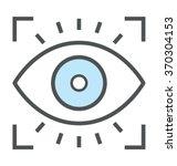 eye focus flat icon illustration | Shutterstock .eps vector #370304153