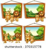 Four Photo Frames Of Lion...