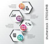 business info graphics hexagon... | Shutterstock .eps vector #370316948