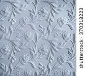 white floral pattern  embossed... | Shutterstock . vector #370318223